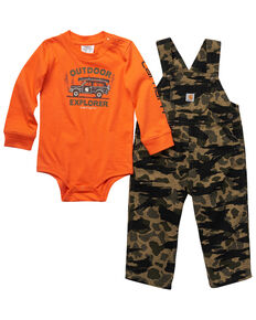 Carhartt Infant Boys' Camo T-Shirt And Overall Set , Camouflage, hi-res