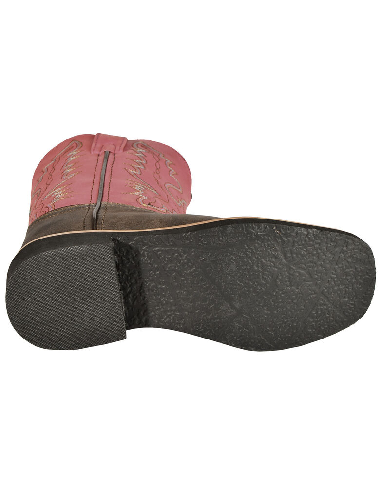 Swift Creek Youth Girls' Raspberry Cowgirl Boots - Square Toe, , hi-res