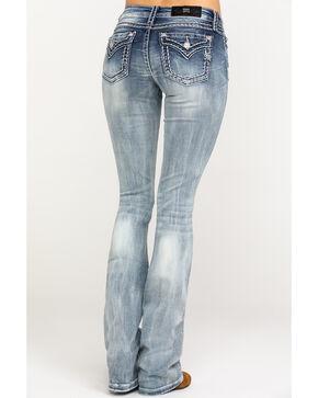 Miss Me Women's Signature Light 36 Inseam Boot Jeans , Blue, hi-res