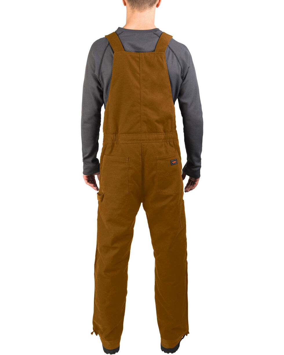 Walls Men's Brown Frost Blizzard Pruf Insulated Bib Overalls , Pecan, hi-res