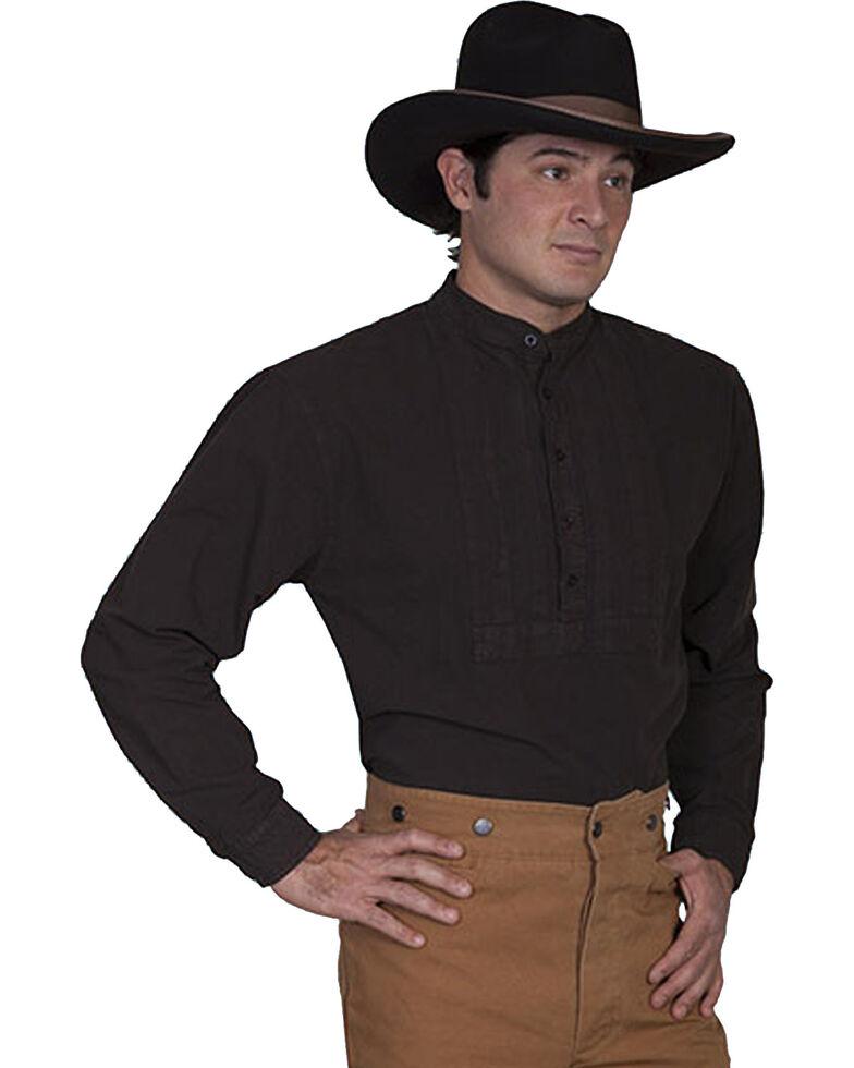 Rangewear by Scully Pleated Inset Bib Shirt - Big & Tall, Brown, hi-res