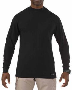 5.11 Tactical Men's Cotton Winter Mock, Black, hi-res
