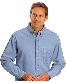 Wrangler Rugged Wear Long Sleeve Shirt, Stonewash, hi-res