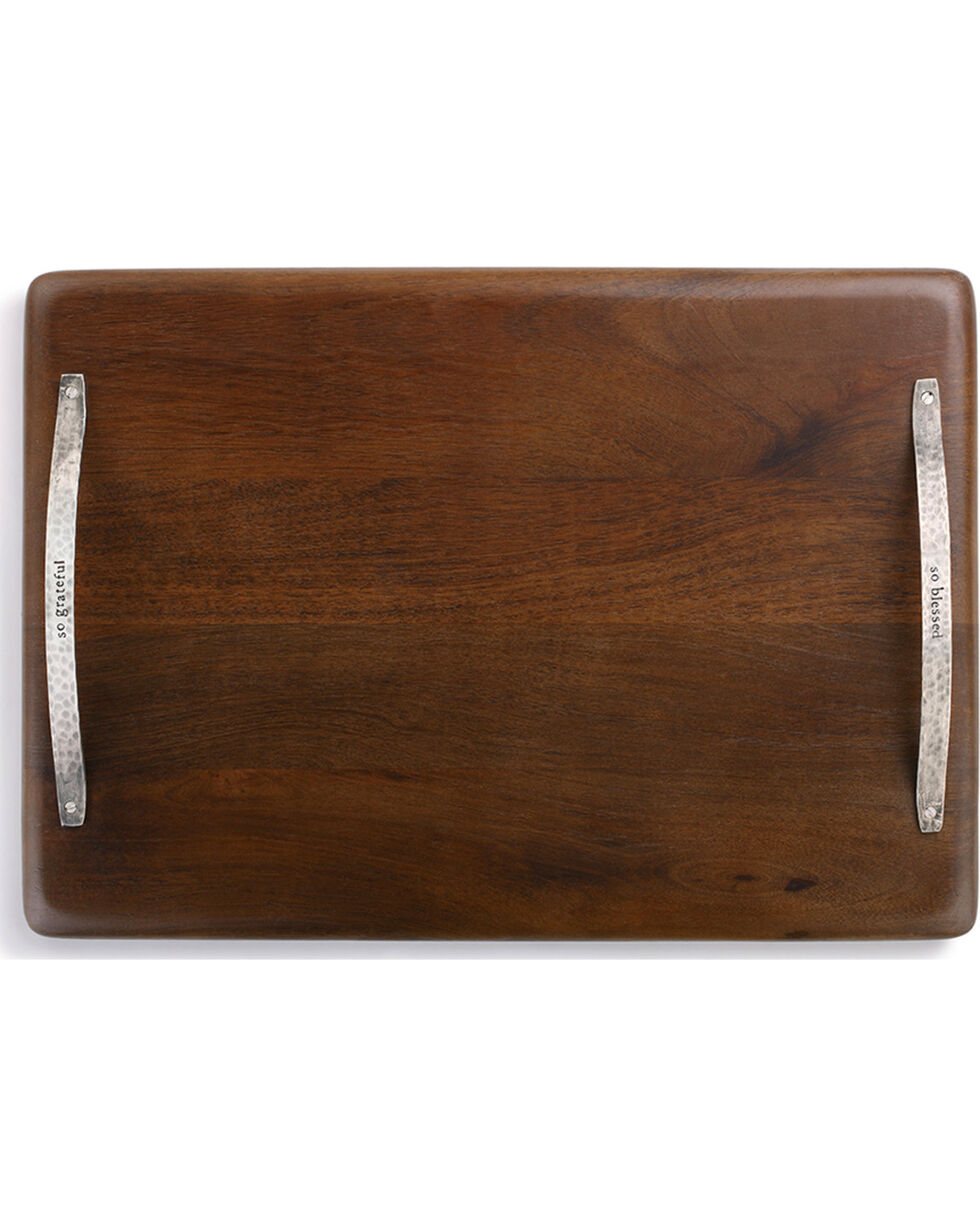 Demdaco Brown So Blessed Serving Tray , Brown, hi-res