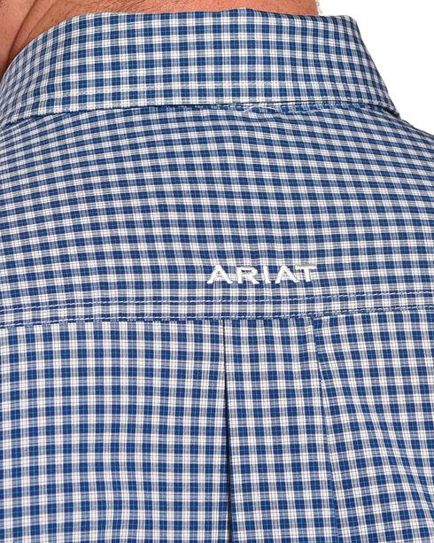 Ariat Men's Pro Series Sheridon Plaid Short Sleeve Button Down Shirt - Big & Tall, Navy, hi-res