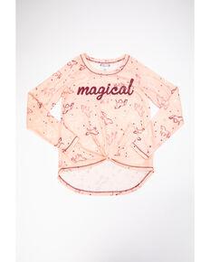 Shyanne Girls' Magical Horse Print Raglan Tee, Pink, hi-res