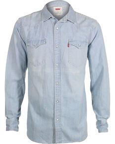 abe42c4c96f Levi s Men s New Age Bleach Denim Long Sleeve Western Shirt