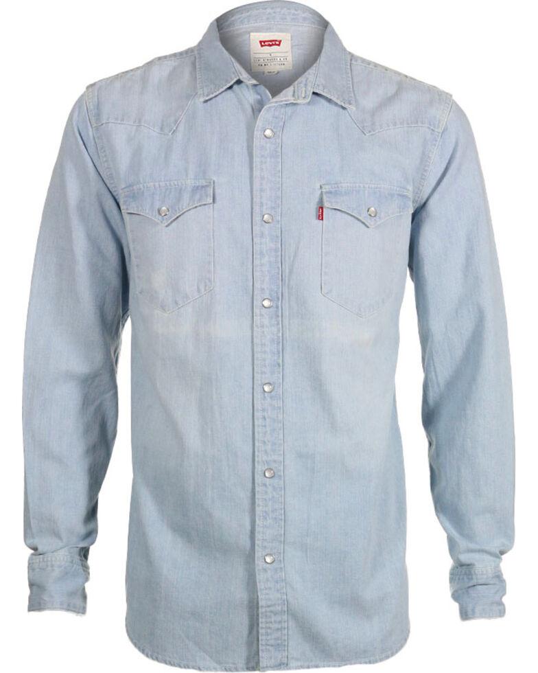 b8bbfaf9aa Levi s Men s New Age Bleach Denim Long Sleeve Western Shirt