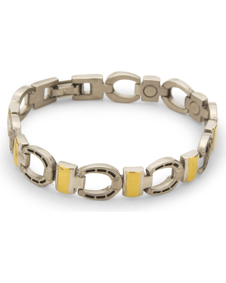 Sabona Men S Horseshoe Magnetic Bracelet Silver Hi Res