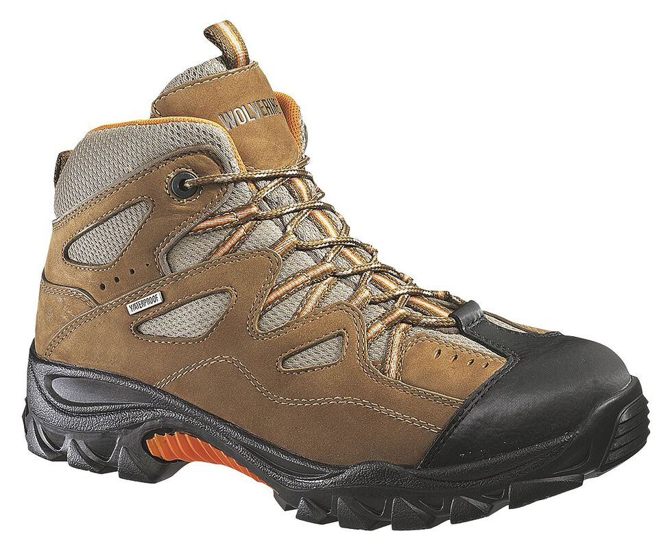 Wolverine Durant Waterproof Work Boots - Steel Toe, Light Brown, hi-res