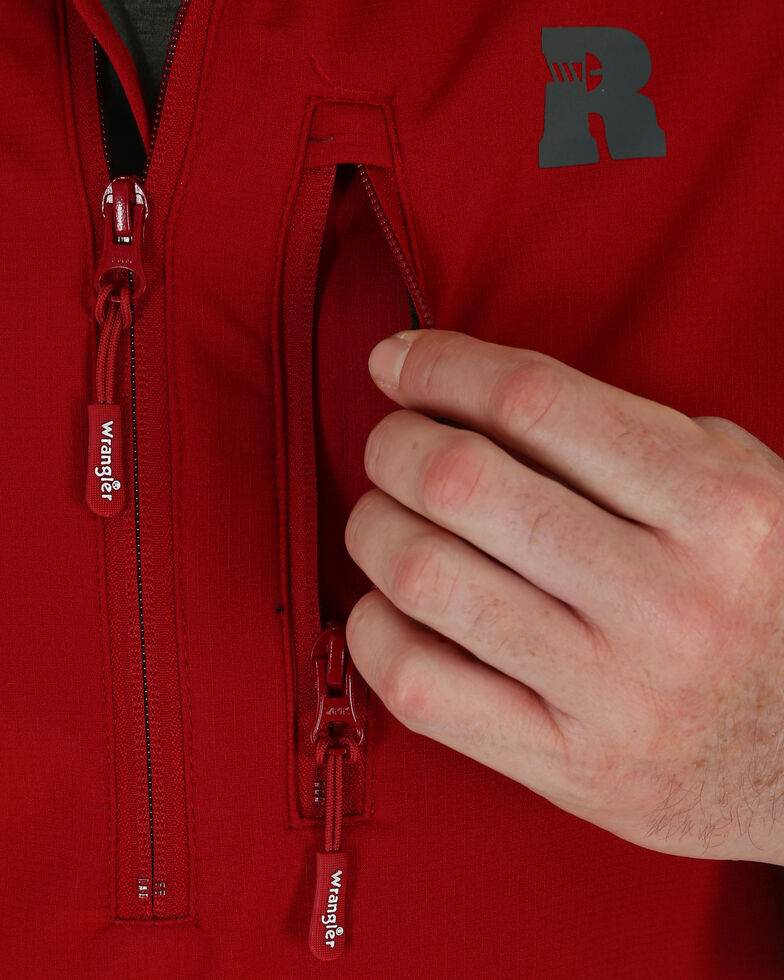 Wrangler Riggs Workwear Men's Technician Softshell Pullover, Red, hi-res