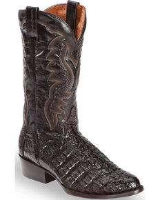 Dan Post Flank Caiman Cowboy Boots, Chocolate, hi-res