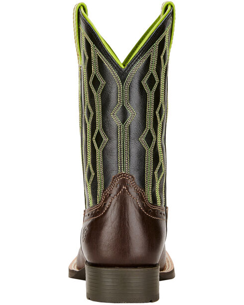 Ariat Youth Boys' Live Wire Cowboy Boots - Square Toe , Chocolate, hi-res
