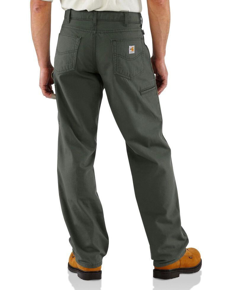 Carhartt Flame Resistant  Canvas Work Pants - Big & Tall, Moss, hi-res