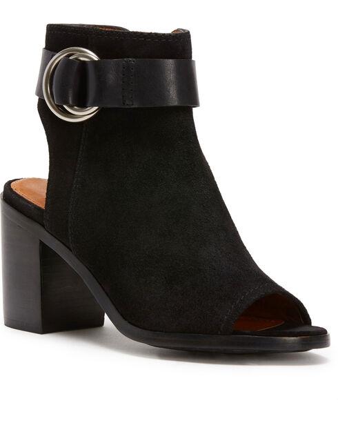Frye Women's Black Danica Harness Shoes , Black, hi-res