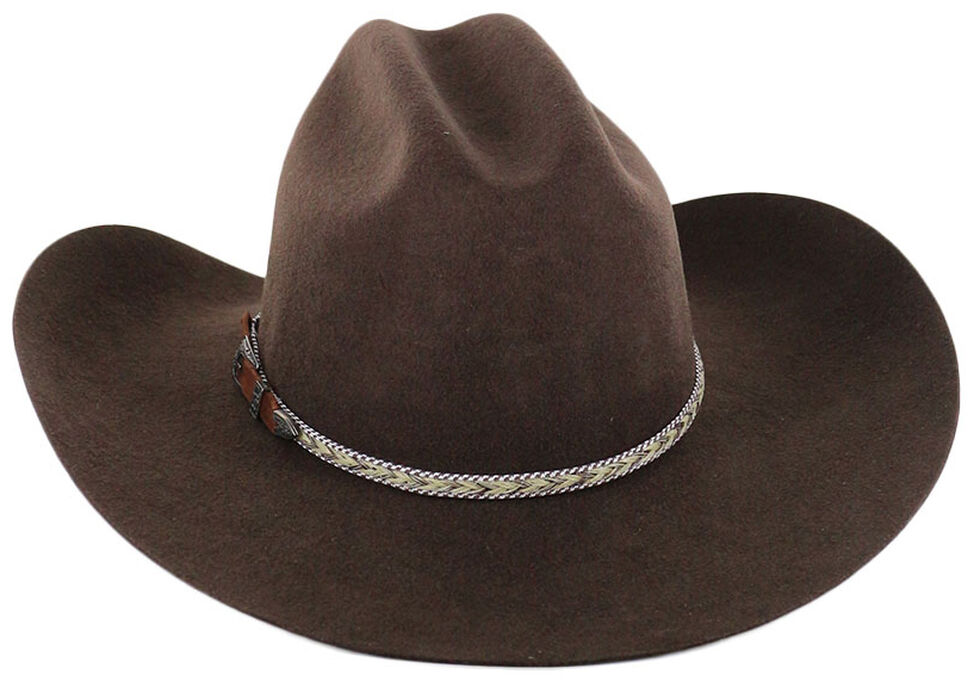 Cody James Men's Ramrod 3X Low Cattleman Pro Rodeo Felt Hat, Chocolate, hi-res