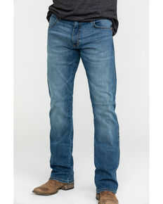 Wrangler Retro Men's Weston Stretch Slim Boot Jeans , Blue, hi-res