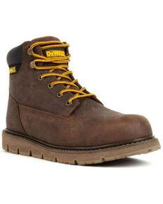 DeWalt Men's Flex Lace-Up Work Boots - Steel Toe, Brown, hi-res