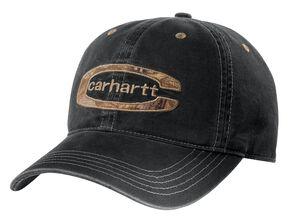 Carhartt Cedarville Logo Camo Cap, Black, hi-res