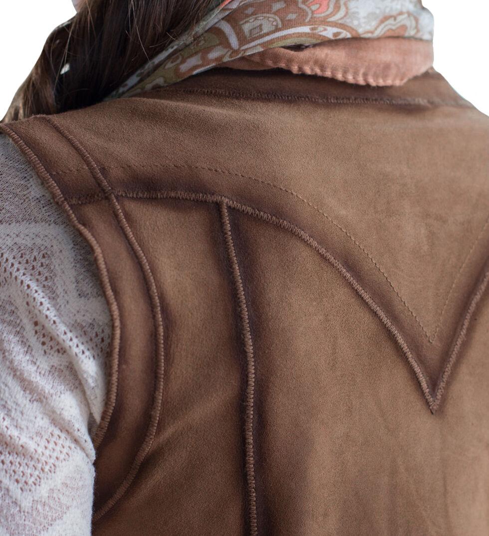 Ryan Michael Women's Ella Tie-Front Reversible Leather Vest, Light Brown, hi-res