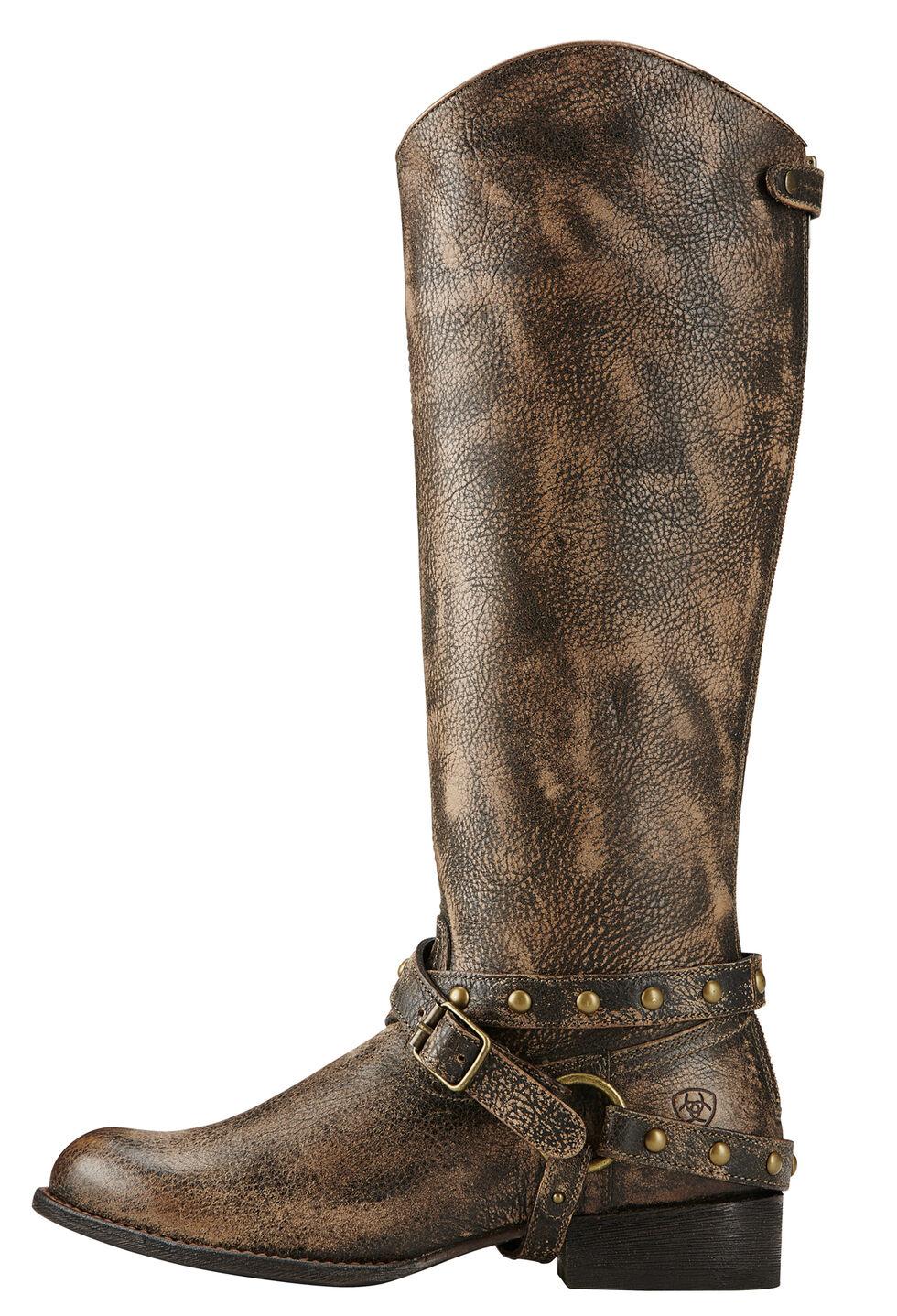 Ariat Brooklyn Brown Manhattan Fashion Cowgirl Boots - Round Toe , Brown, hi-res