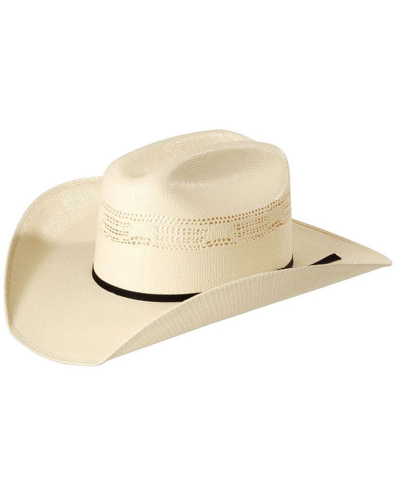 Justin 10X Cutter Straw Cowboy Hat, Natural, hi-res