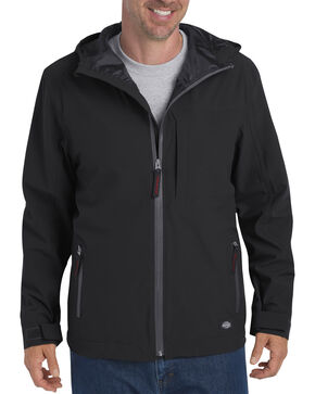 Dickies Men's Waterproof Breathable Hooded Jacket, Black, hi-res