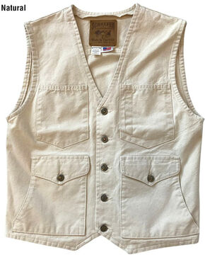 Schaefer Outfitter Men's Natural Vintage Mesquite Vest , Natural, hi-res