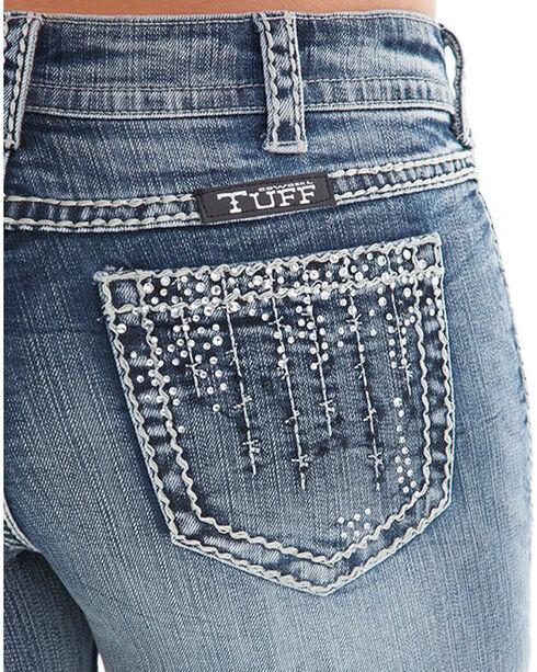 Cowgirl Tuff Women's Indigo Crystal Waterfall Jeans - Boot Cut , Indigo, hi-res