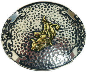 """AndWest Vintage """"Escalante"""" Two-Tone Bull Rider Buckle, Two Tone, hi-res"""