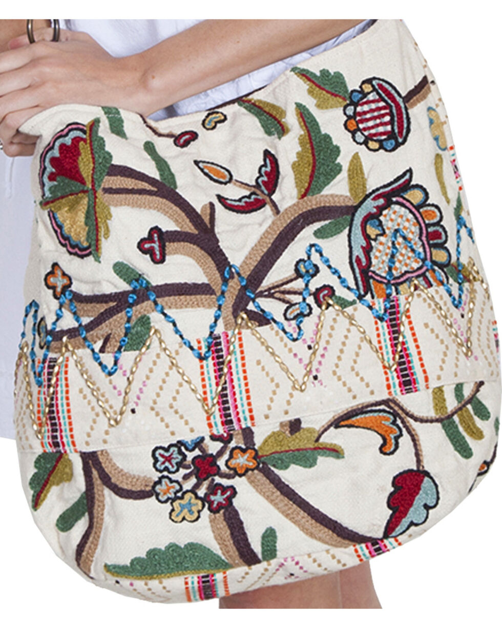 Scully Cantina Collection Multi Colored Embroidered Handbag, Multi, hi-res