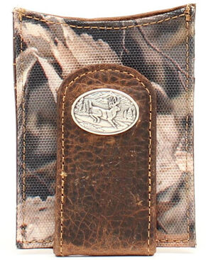 Ariat Camo Deer Concho Money Clip, Camouflage, hi-res