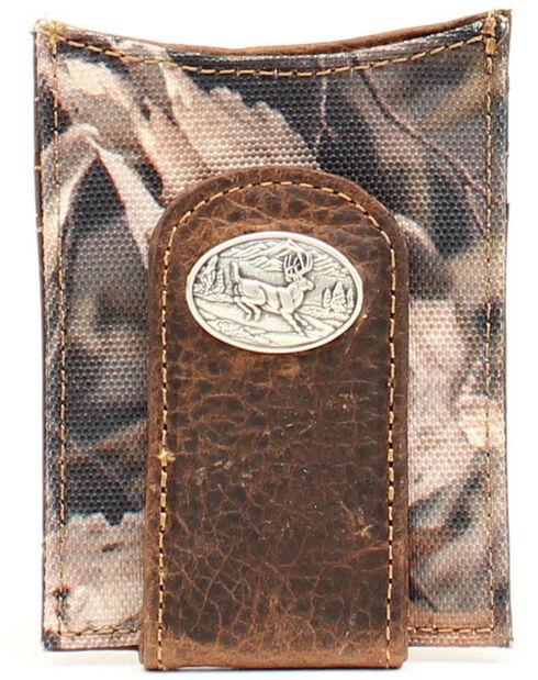 Ariat Camo Deer Concho Money Clip, Camouflage, hi-res