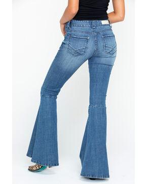 Rock & Roll Cowgirl Women's Midride Flare Denim Jeans , Indigo, hi-res