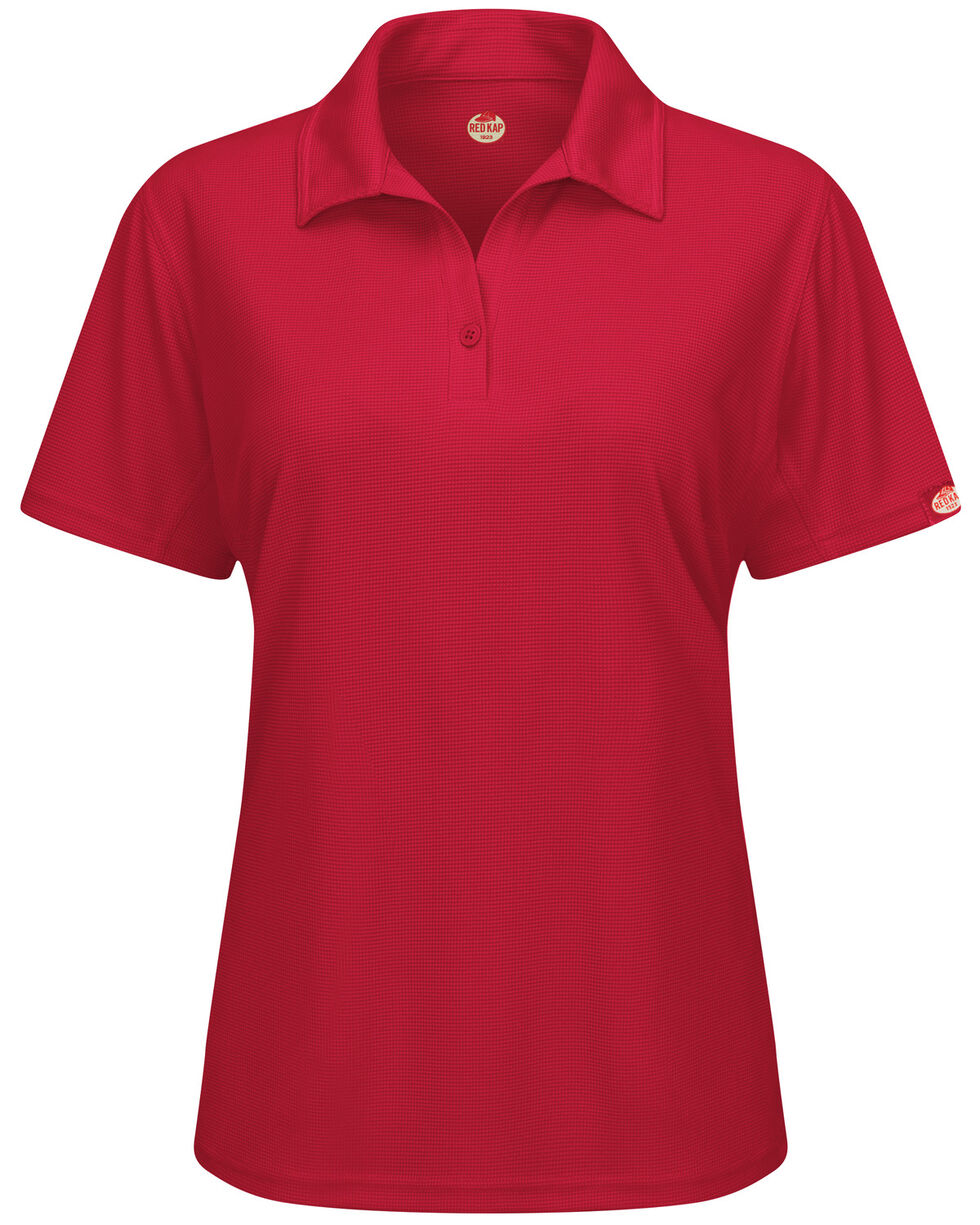 Red Kap Women's Performance Knit Flex Series Pro Polo  , Red, hi-res