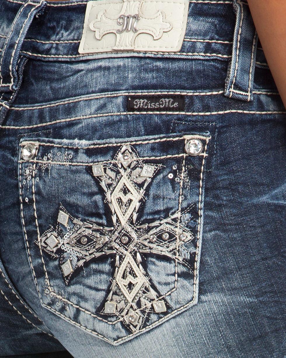 Miss Me Women's Main Stage Mid-Rise Slim Boot Cut Jeans, Indigo, hi-res