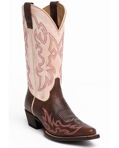 Shyanne Women's Aisley Western Boots - Snip Toe, Pink, hi-res