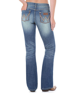 Wrangler Women's Retro Mae Premium Patch Jeans, Blue, hi-res
