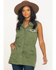 Ariat Women's Pacific Pines Patsy Vest, Green, hi-res