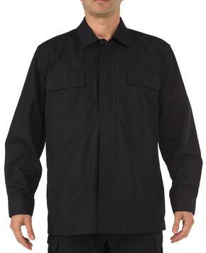 5.11 Tactical Ripstop TDU Long Sleeve Shirt, Black, hi-res