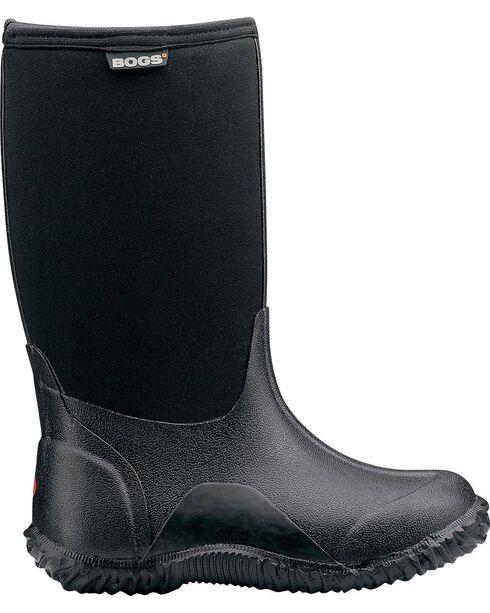 Bogs Boys' Classic High Waterproof Rain Boots, Black, hi-res