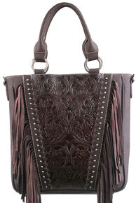 5666f36c40 Montana West Trinity Ranch Coffee Tooled Design Concealed Handgun  Collection Handbag