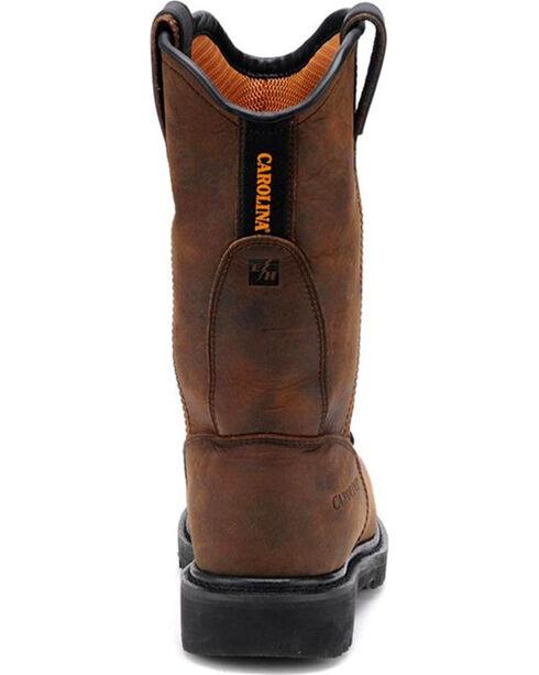 "Carolina Men's Dark Brown Line Builder INT Wellington 12"" Work Boots - Alloy Toe, Dark Brown, hi-res"