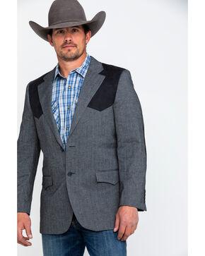 Cody James Men's E Patch Button Front Sportcoat , Grey, hi-res