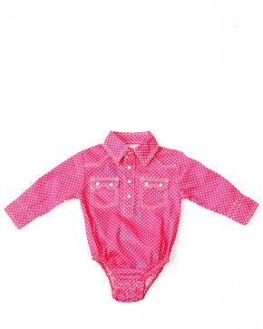 Crazy Cowboy Infant Boys' Red Geo Print Long Sleeve Western Onesie , Red, hi-res