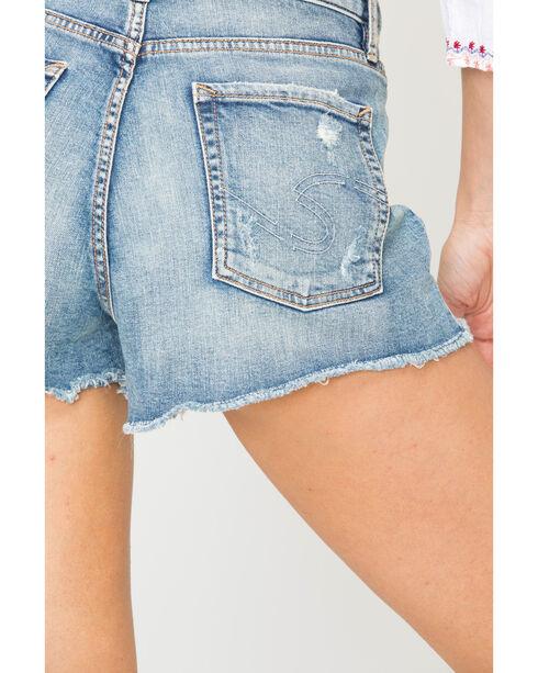 Silver Women's Medium Wash Mom Shorts, Indigo, hi-res