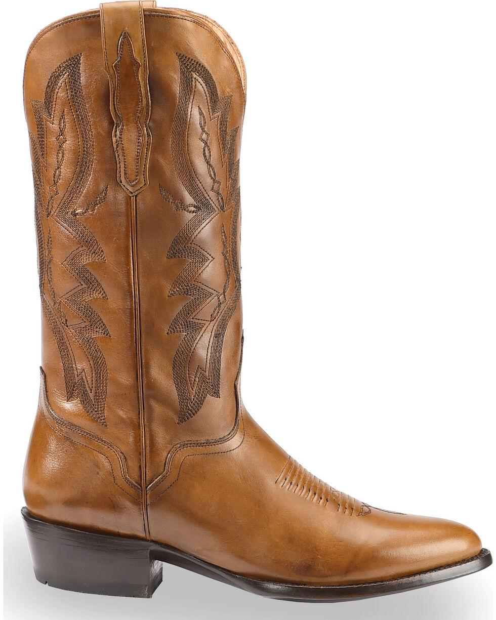 El Dorado Men's Handmade Tan Embroidered Western Boots – Round Toe, Tan, hi-res