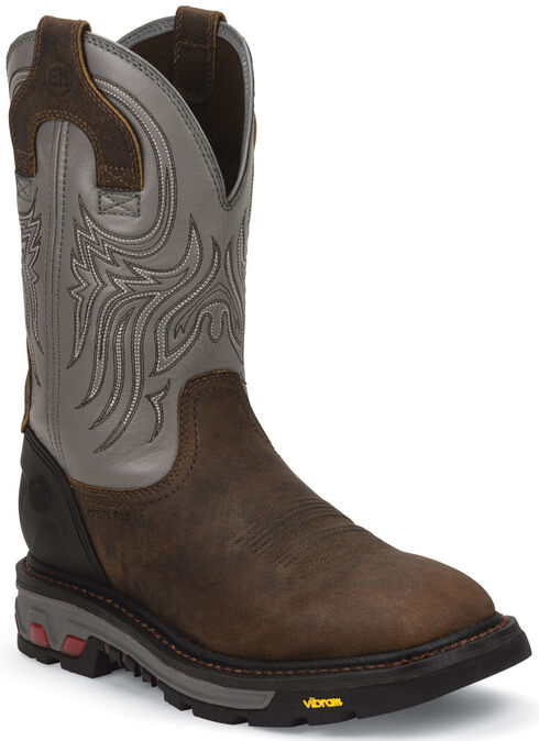 Justin Original Work Boots Commander X5 Waterproof Work Boots - Steel Toe, Timber, hi-res