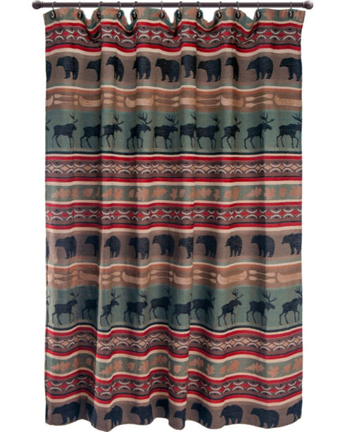 Carstens Backwoods Shower Curtain, Green, hi-res