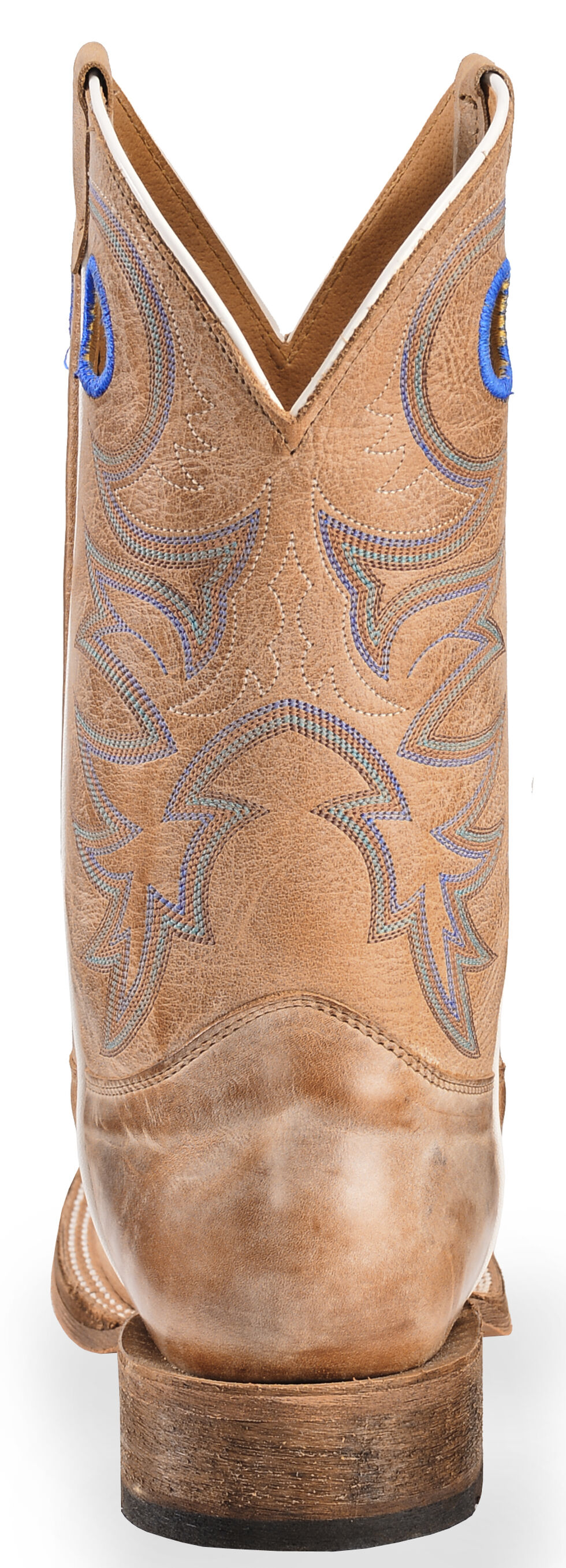 Justin Men's Bent Rail Cowboy Boots - Square Toe, Beige, hi-res